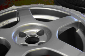 Ford Focus RS repaired and refinished wheel